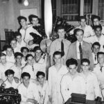 Instructors and Students, School-of-Aviation Trades, Manhattan, possibly 1940s.